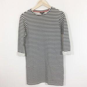 Topshop nautical striped tunic dress